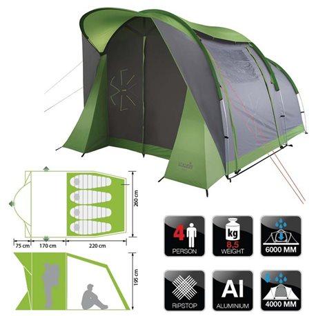 Палатка NORFIN ASP 4 ALU (арт. NF-10304)