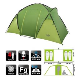 Палатка кемпинговая NORFIN BURBOT 4 (арт. NF-10204)