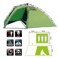 Палатка треккинговая автоматическая NORFIN PELED 3 (арт. NF-10405)
