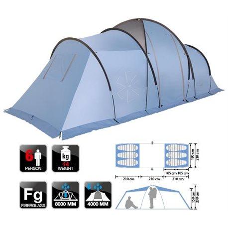 Палатка кемпинговая NORFIN MOSS 6 (арт. NFL-10210)
