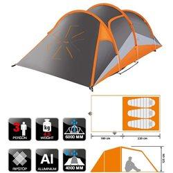 Палатка треккинговая NORFIN HELIN 3 ALU (арт. NS-10308)