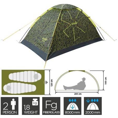 Палатка двухместная однослойная NORFIN RUFFE 2 (арт. NC-10101)