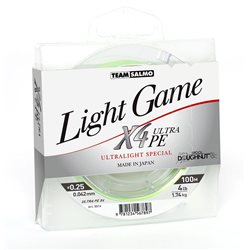 Леска плетеная TEAM SALMO LIGHT GAME X4 ULTRA PE (арт. 5014)